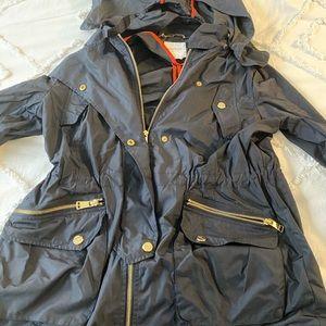 Bebe rain jacket with detachable hood